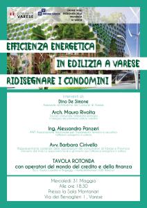 CONVEGNO MERCOLEDI' 31 MAGGIO ORE 18.30: EFFICIENZA ENERGENTICA